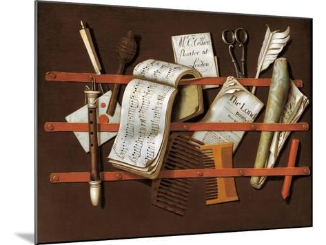 Letter Rack, Ca 1698-Edward Collier-Mounted Giclee Print
