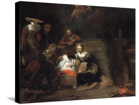 The Adoration of the Christ Child-Samuel Dirksz van Hoogstraten-Stretched Canvas Print