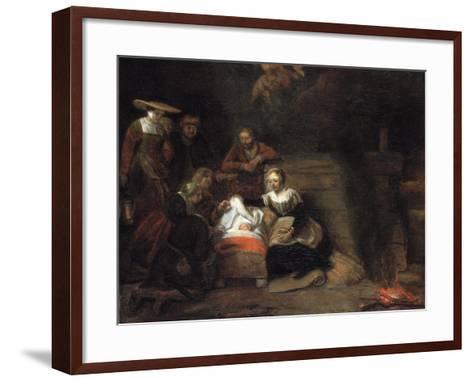 The Adoration of the Christ Child-Samuel Dirksz van Hoogstraten-Framed Art Print