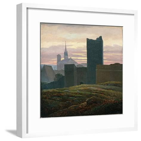 The Royal Castle of Cheb-Carl Gustav Carus-Framed Art Print