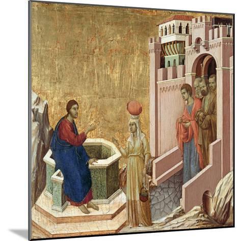 Christ and the Samaritan Woman-Duccio di Buoninsegna-Mounted Giclee Print