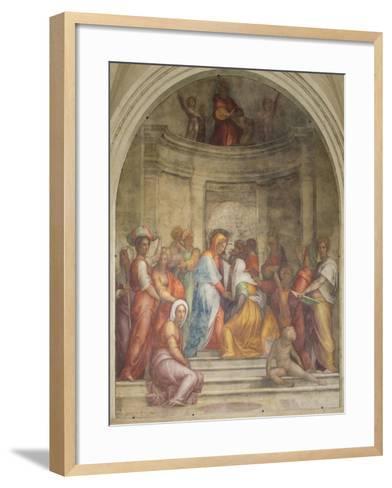 The Visitation-Pontormo-Framed Art Print