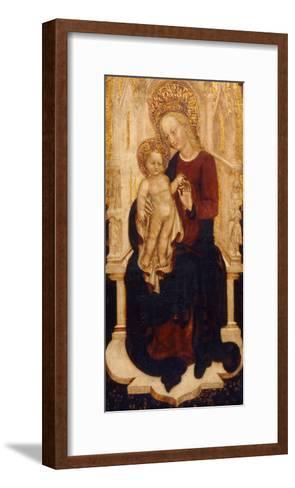 The Virgin and Child Enthroned-Cristoforo Moretti-Framed Art Print