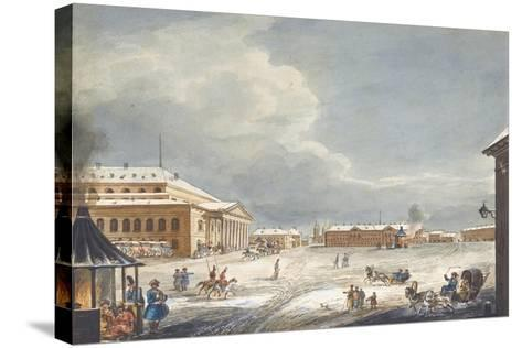 View of the Saint Petersburg Imperial Bolshoi Kamenny Theatre-Karl Ivanovich Kolmann-Stretched Canvas Print