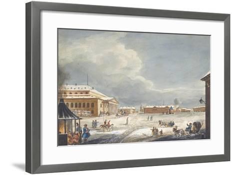 View of the Saint Petersburg Imperial Bolshoi Kamenny Theatre-Karl Ivanovich Kolmann-Framed Art Print