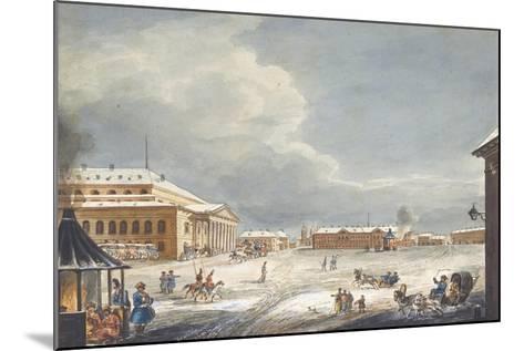 View of the Saint Petersburg Imperial Bolshoi Kamenny Theatre-Karl Ivanovich Kolmann-Mounted Giclee Print
