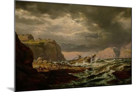 Shipwreck on the Norwegian Coast-Johan Christian Clausen Dahl-Mounted Giclee Print