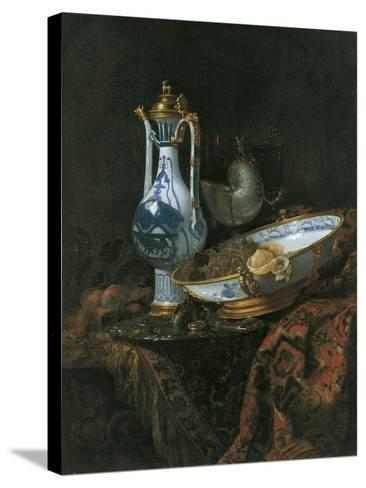 Still Life with Nautilus Cup-Willem Kalf-Stretched Canvas Print
