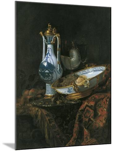 Still Life with Nautilus Cup-Willem Kalf-Mounted Giclee Print