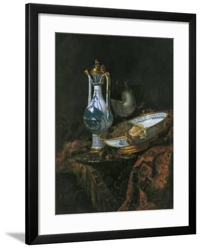 Still Life with Nautilus Cup-Willem Kalf-Framed Art Print