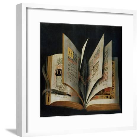 An Opened Liturgical Book--Framed Art Print