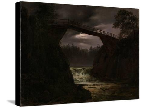 The Bridge Outside Arendal-Thomas Fearnley-Stretched Canvas Print