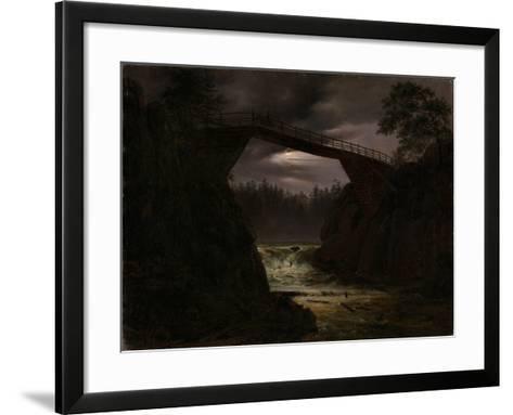 The Bridge Outside Arendal-Thomas Fearnley-Framed Art Print