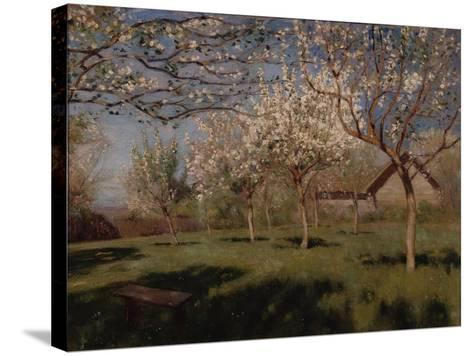 Apple Trees Blooming-Isaak Ilyich Levitan-Stretched Canvas Print