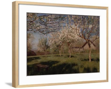 Apple Trees Blooming-Isaak Ilyich Levitan-Framed Art Print