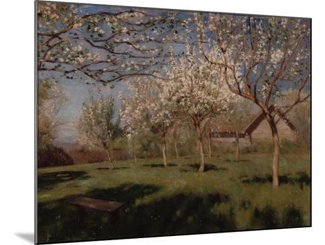 Apple Trees Blooming-Isaak Ilyich Levitan-Mounted Giclee Print