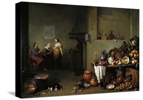 Christ in the House of Martha and Mary-Pieter De Bloot-Stretched Canvas Print