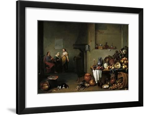 Christ in the House of Martha and Mary-Pieter De Bloot-Framed Art Print