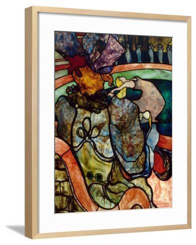 Papa Chrysanth?me at the New Circus-Henri de Toulouse-Lautrec-Framed Art Print
