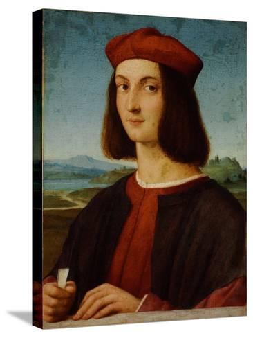 Portrait of Pietro Bembo-Raphael-Stretched Canvas Print