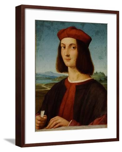 Portrait of Pietro Bembo-Raphael-Framed Art Print