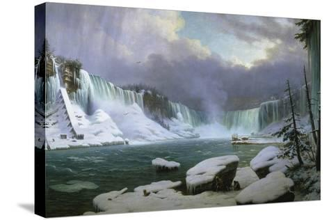 Niagara Falls in Winter-Hippolyte Sebron-Stretched Canvas Print