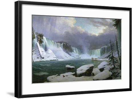Niagara Falls in Winter-Hippolyte Sebron-Framed Art Print