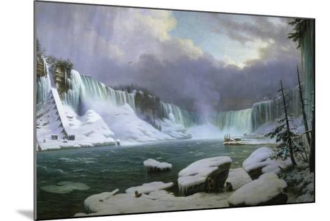 Niagara Falls in Winter-Hippolyte Sebron-Mounted Giclee Print
