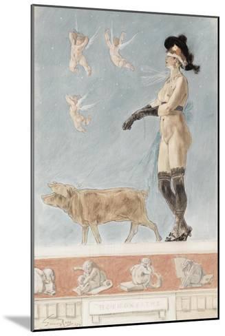Pornokrates (La Dame Au Cocho)-F?licien Rops-Mounted Giclee Print