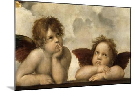 The Sistine Madonna (Detail)-Raphael-Mounted Giclee Print