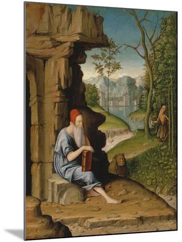 Saint Jerome in the Desert-Bartolomeo Montagna-Mounted Giclee Print