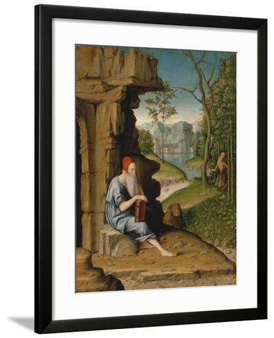 Saint Jerome in the Desert-Bartolomeo Montagna-Framed Art Print