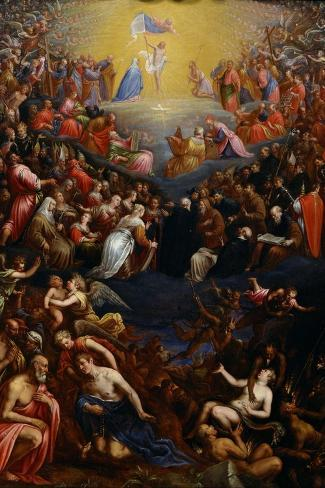 The Last Judgment-Leandro Bassano-Stretched Canvas Print