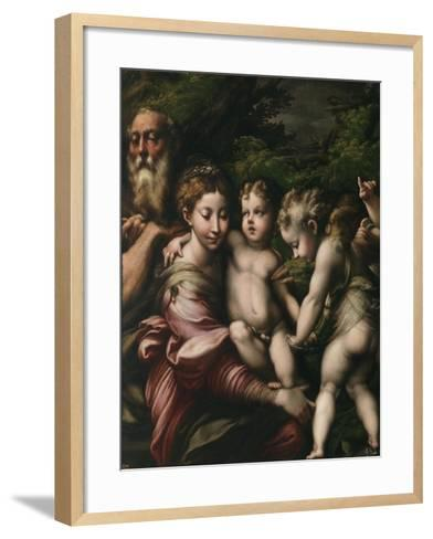 The Holy Family with Angels-Parmigianino-Framed Art Print