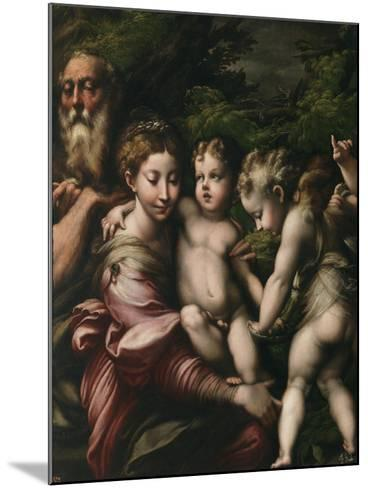 The Holy Family with Angels-Parmigianino-Mounted Giclee Print