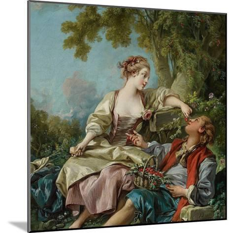The Wooden Shoes (Les Sabot), 1768-Fran?ois Boucher-Mounted Giclee Print