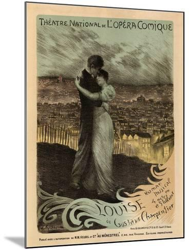 Poster for the Oper Louise by Gustave Charpentier, 1900-Georges Antoine Rochegrosse-Mounted Giclee Print