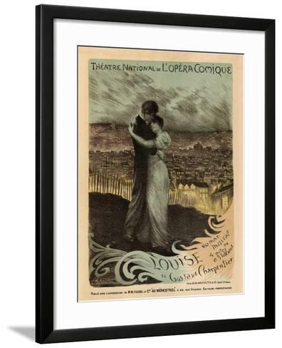 Poster for the Oper Louise by Gustave Charpentier, 1900-Georges Antoine Rochegrosse-Framed Art Print