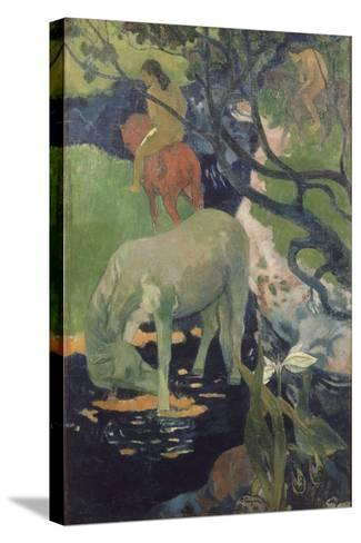 The White Horse, 1898-Paul Gauguin-Stretched Canvas Print