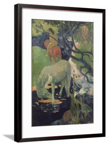 The White Horse, 1898-Paul Gauguin-Framed Art Print