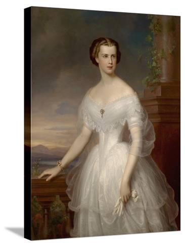Portrait of Elisabeth of Bavaria-Franz Schrotzberg-Stretched Canvas Print