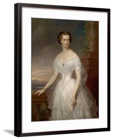 Portrait of Elisabeth of Bavaria-Franz Schrotzberg-Framed Art Print