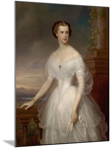 Portrait of Elisabeth of Bavaria-Franz Schrotzberg-Mounted Giclee Print