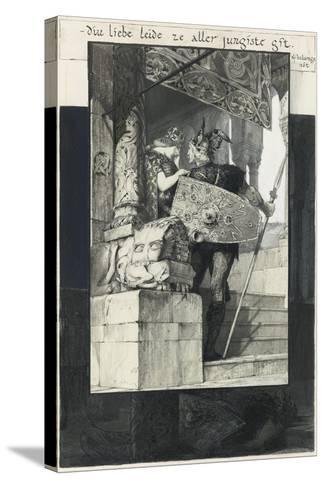 Sigfried and Kriemhild-Franz von Stuck-Stretched Canvas Print