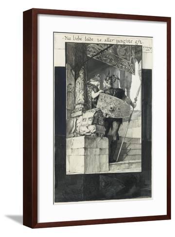Sigfried and Kriemhild-Franz von Stuck-Framed Art Print