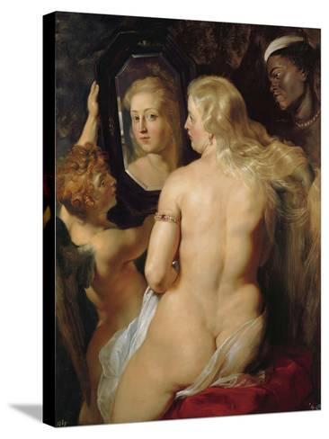 Venus at a Mirror-Peter Paul Rubens-Stretched Canvas Print