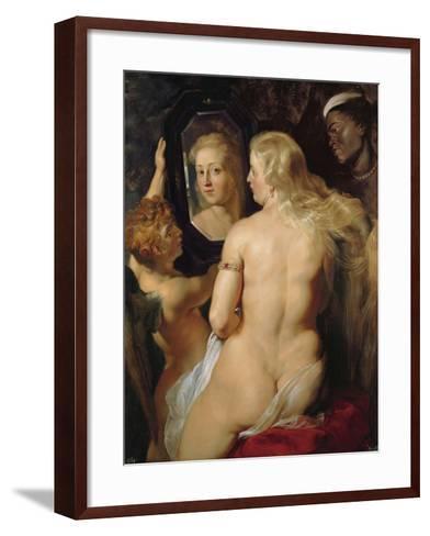 Venus at a Mirror-Peter Paul Rubens-Framed Art Print