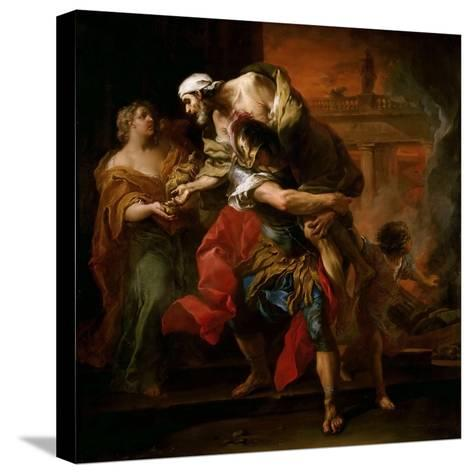 Aeneas Carrying Anchises-Carle van Loo-Stretched Canvas Print