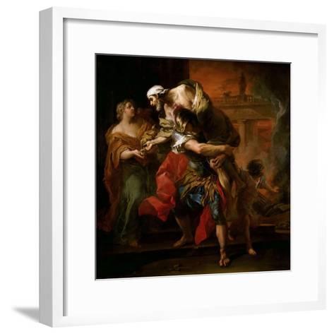 Aeneas Carrying Anchises-Carle van Loo-Framed Art Print
