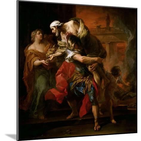 Aeneas Carrying Anchises-Carle van Loo-Mounted Giclee Print